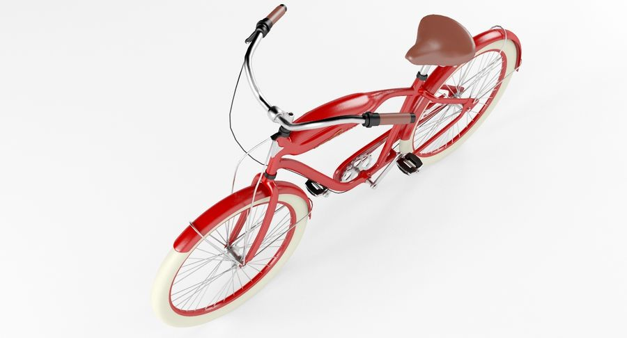 Retro Bicycle royalty-free 3d model - Preview no. 6