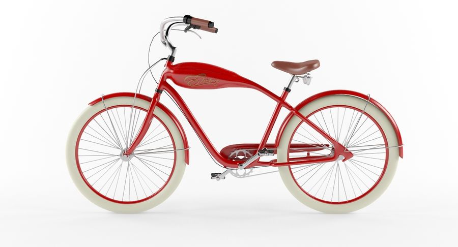 Retro Bicycle royalty-free 3d model - Preview no. 4