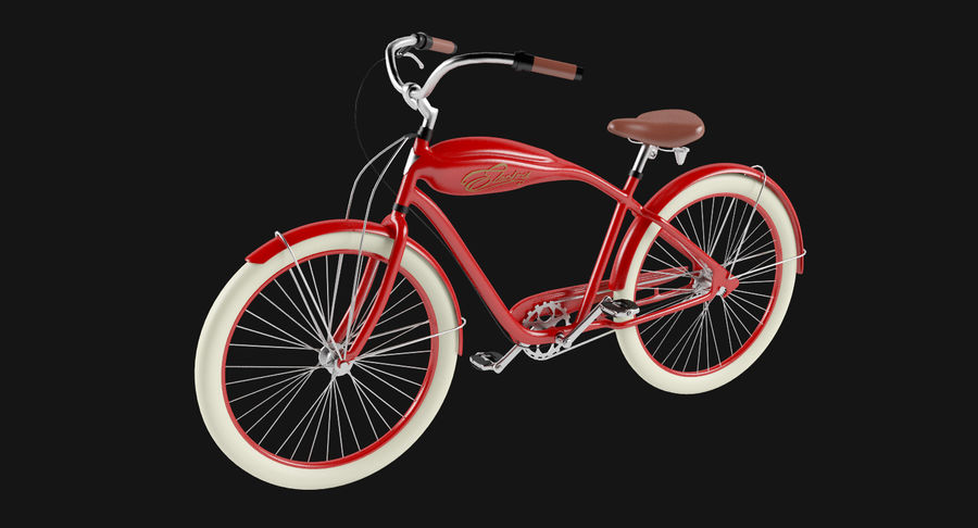 Retro Bicycle royalty-free 3d model - Preview no. 3
