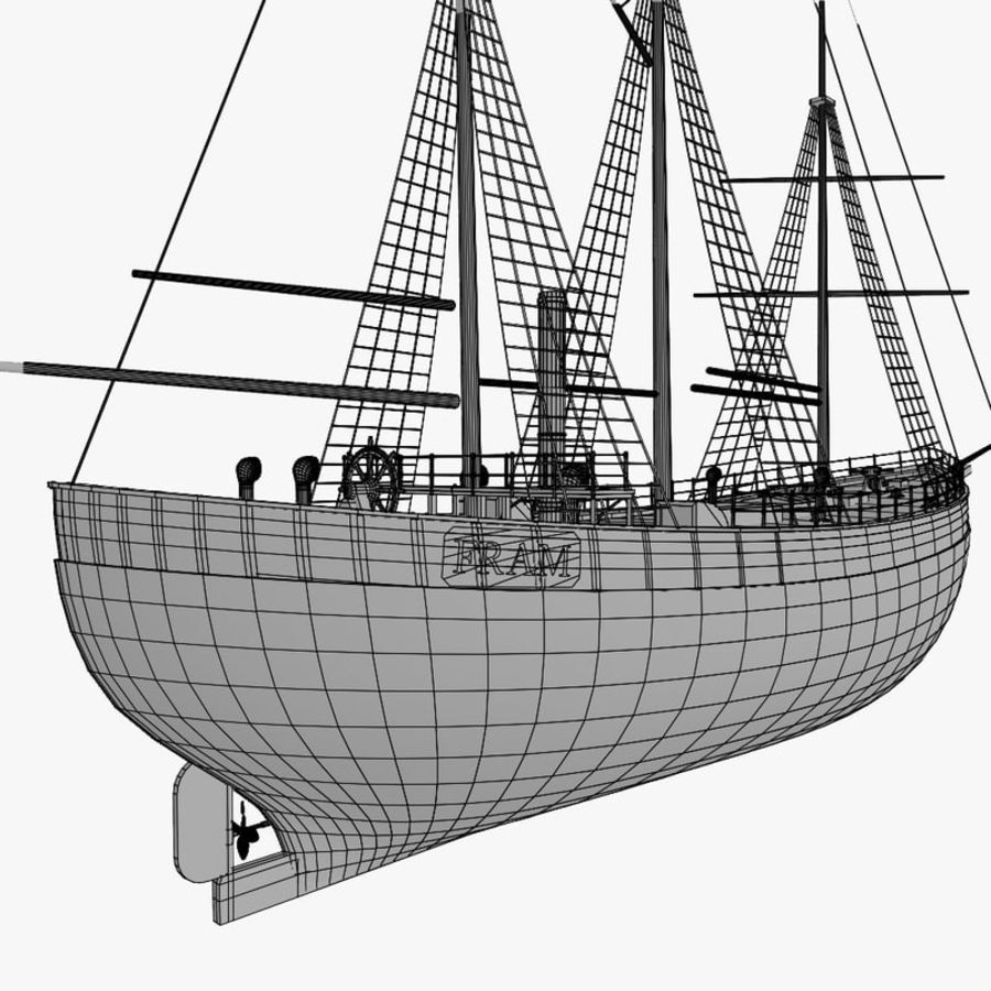 FRAM Historical Ship royalty-free 3d model - Preview no. 14