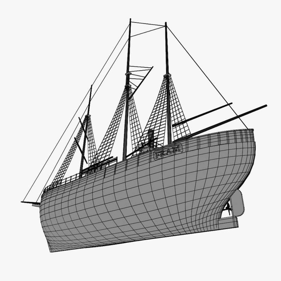 FRAM Historical Ship royalty-free 3d model - Preview no. 18