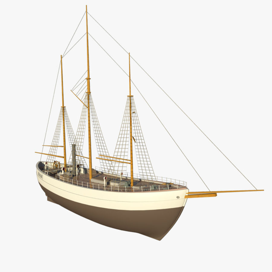FRAM Historical Ship royalty-free 3d model - Preview no. 4