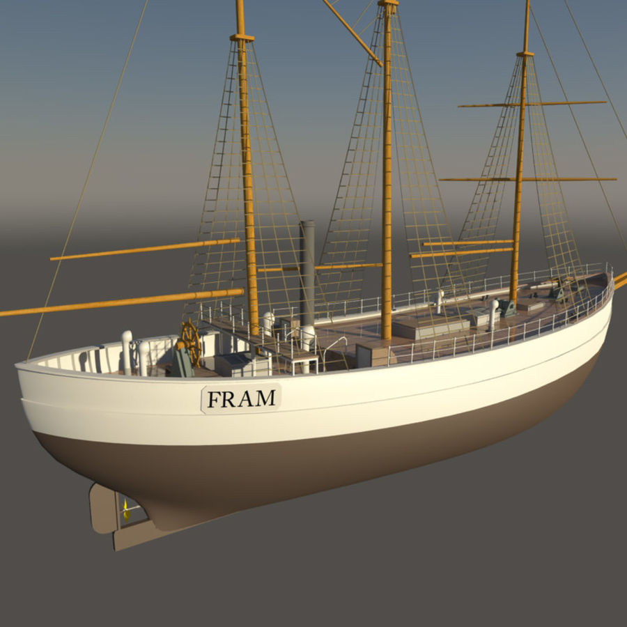 FRAM Historical Ship royalty-free 3d model - Preview no. 2