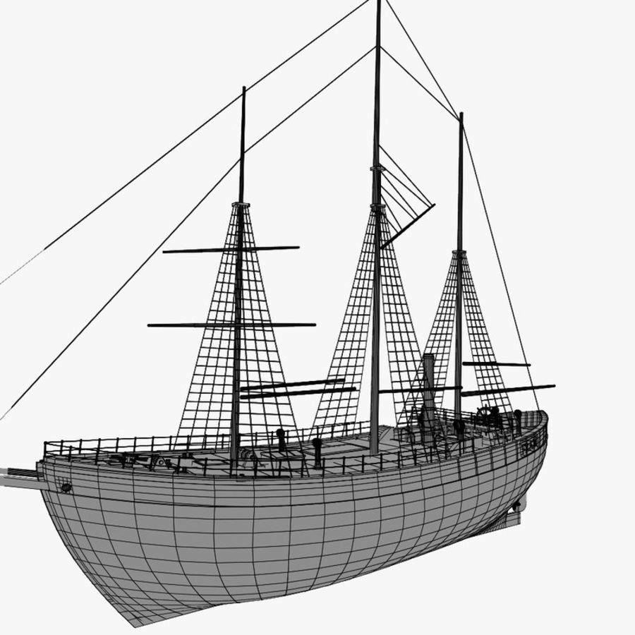 FRAM Historical Ship royalty-free 3d model - Preview no. 19