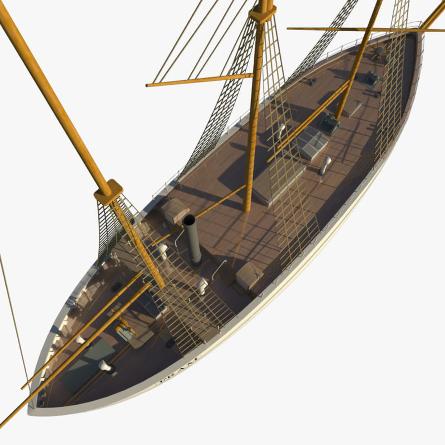 FRAM Historical Ship royalty-free 3d model - Preview no. 8