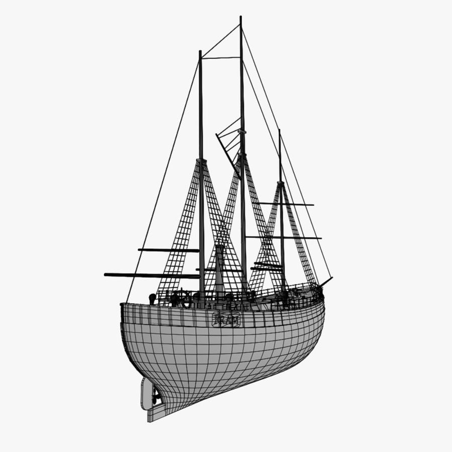 FRAM Historical Ship royalty-free 3d model - Preview no. 16