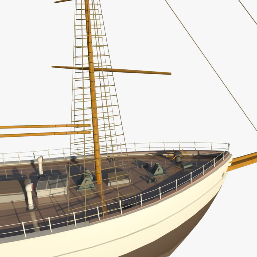 FRAM Historical Ship royalty-free 3d model - Preview no. 7