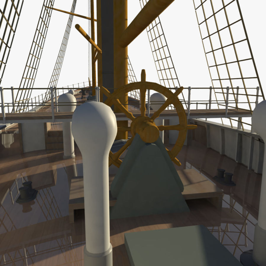 FRAM Historical Ship royalty-free 3d model - Preview no. 11