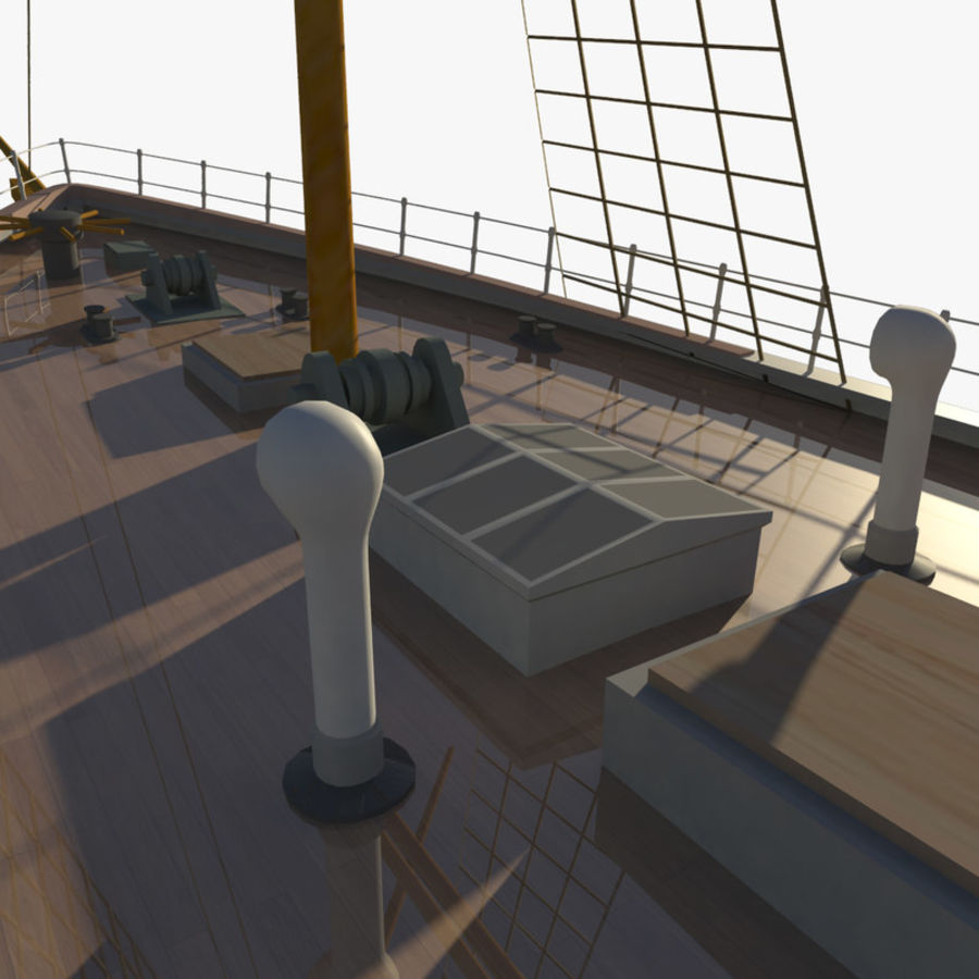 FRAM Historical Ship royalty-free 3d model - Preview no. 12