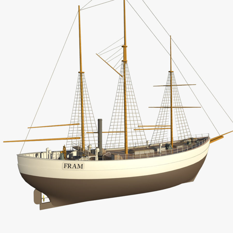 FRAM Historical Ship royalty-free 3d model - Preview no. 10