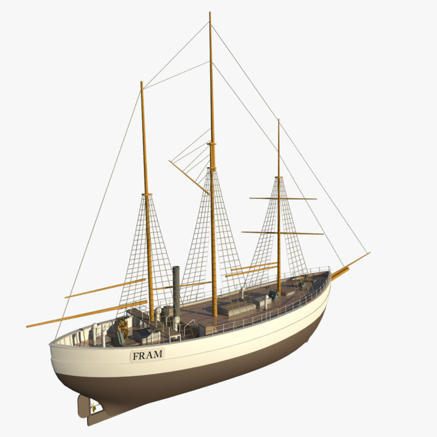 FRAM Historical Ship royalty-free 3d model - Preview no. 6