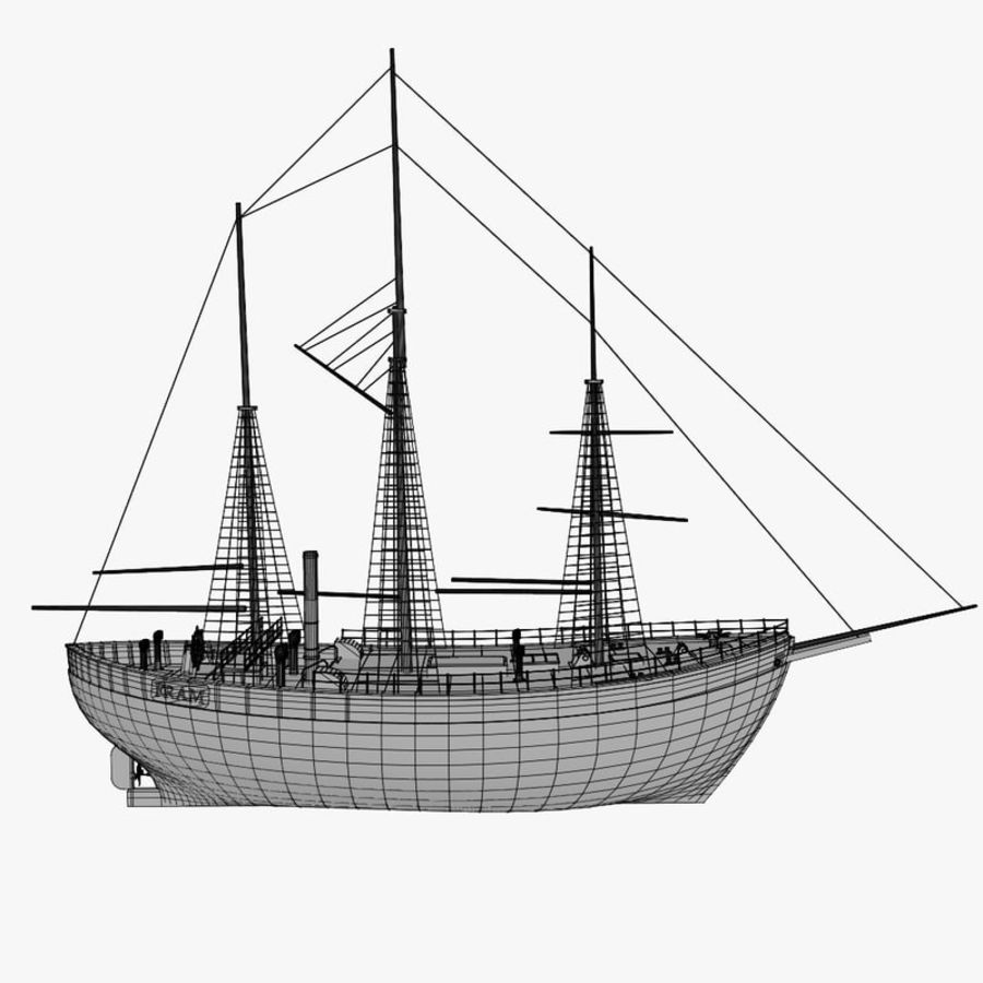 FRAM Historical Ship royalty-free 3d model - Preview no. 13