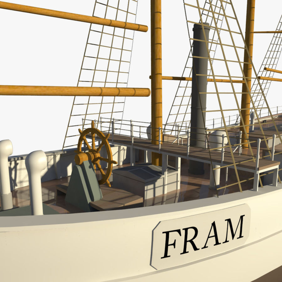 FRAM Historical Ship royalty-free 3d model - Preview no. 5