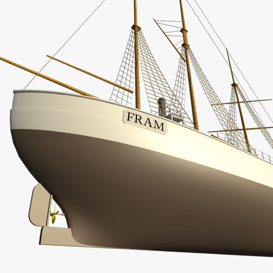 FRAM Historical Ship royalty-free 3d model - Preview no. 9