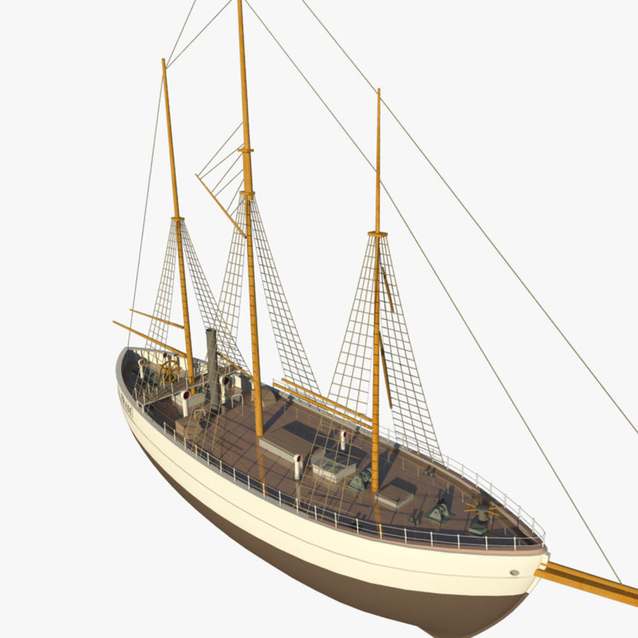 FRAM Historical Ship royalty-free 3d model - Preview no. 3