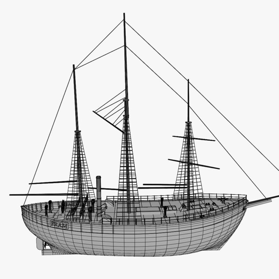 FRAM Historical Ship royalty-free 3d model - Preview no. 15