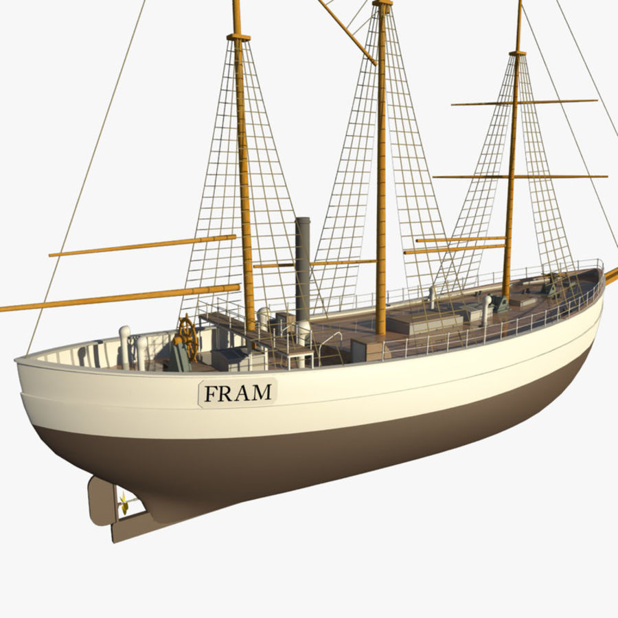 FRAM Historical Ship royalty-free 3d model - Preview no. 1