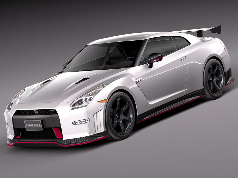 Nissan GT-R Nismo 2015 royalty-free 3d model - Preview no. 1