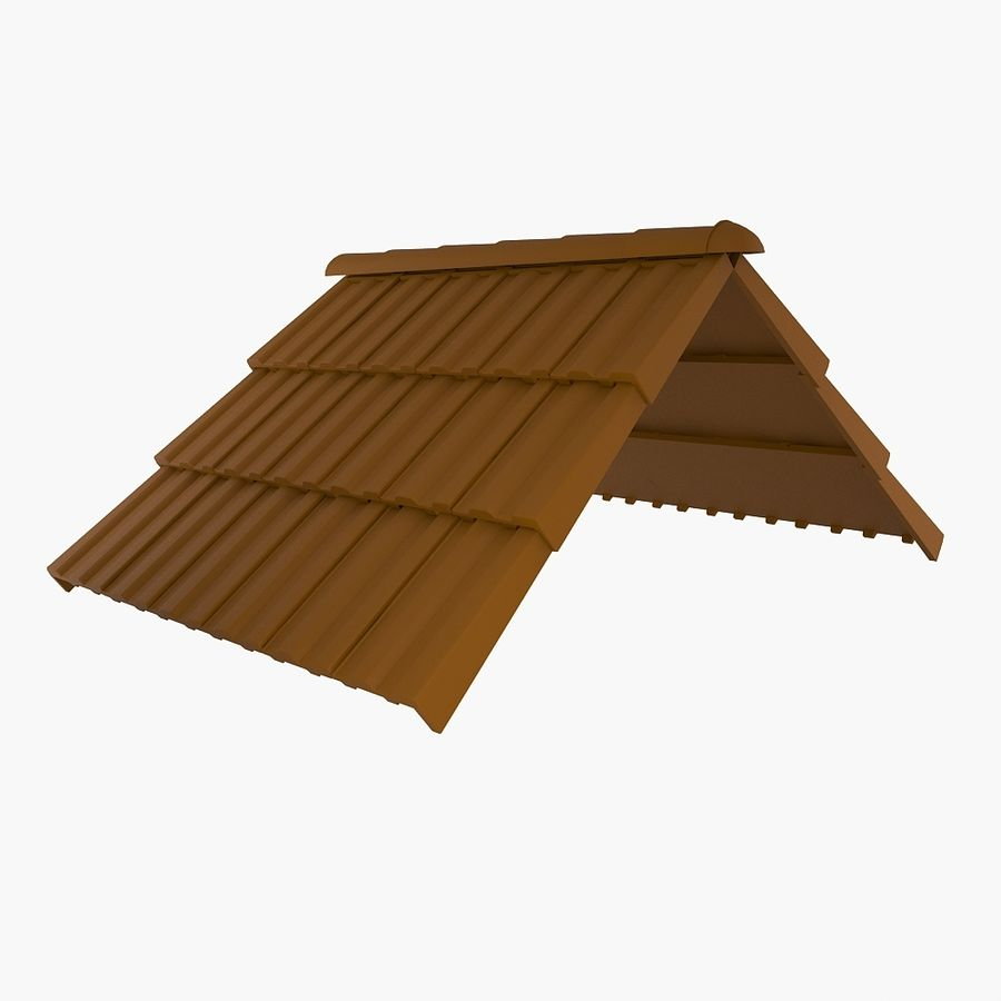 Roof Tiles royalty-free 3d model - Preview no. 1