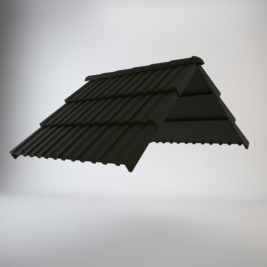Roof Tiles royalty-free 3d model - Preview no. 2