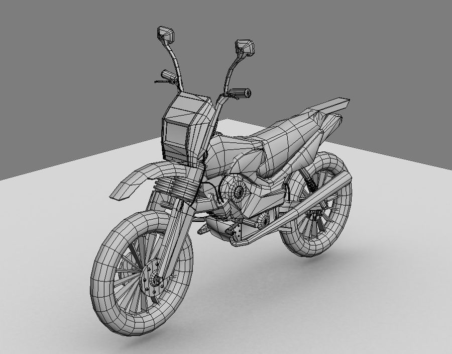 BikeLowPoly royalty-free 3d model - Preview no. 6