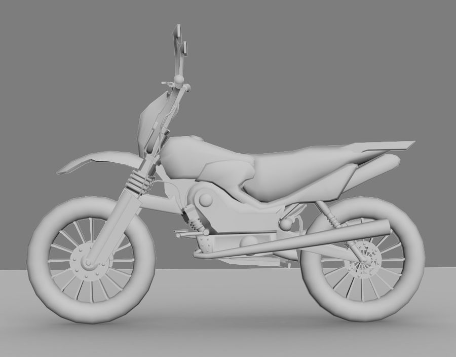 BikeLowPoly royalty-free 3d model - Preview no. 2