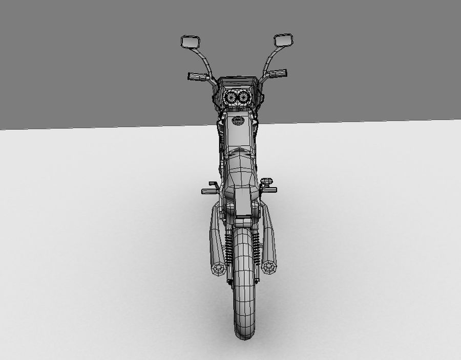 BikeLowPoly royalty-free 3d model - Preview no. 8