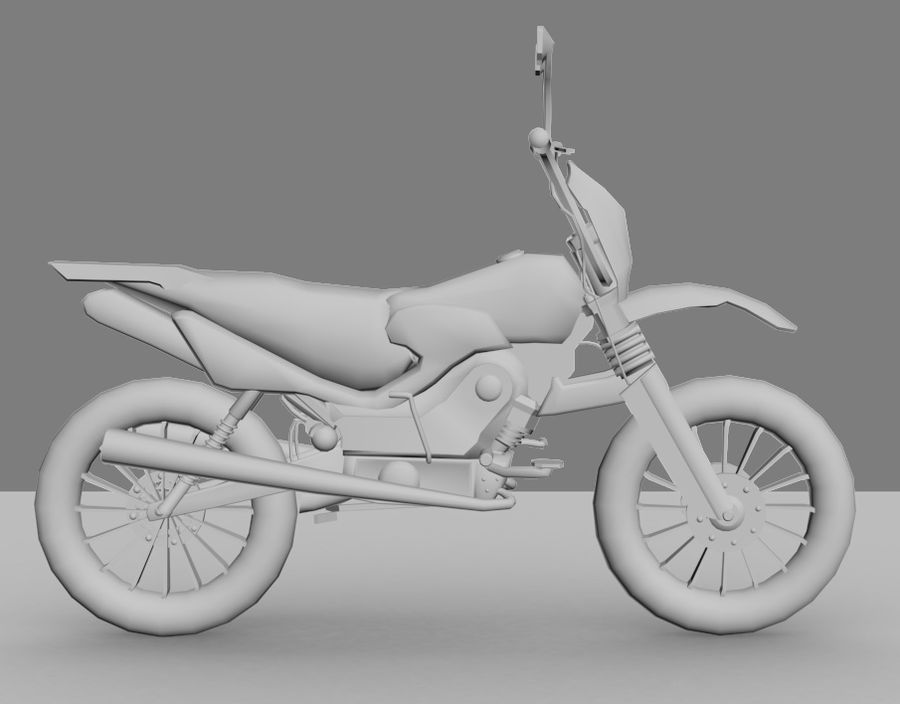 BikeLowPoly royalty-free 3d model - Preview no. 5