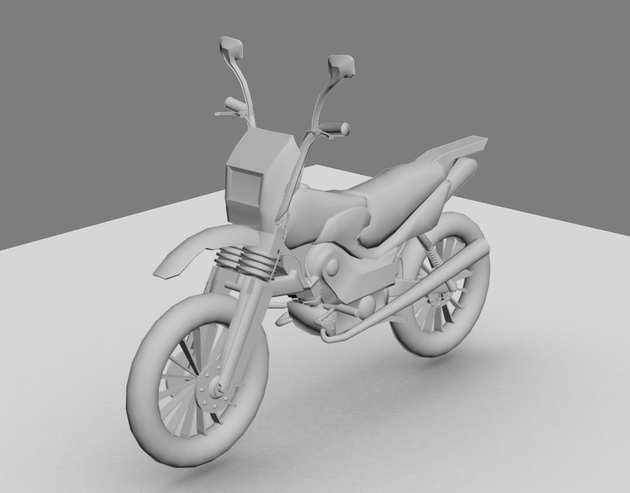 BikeLowPoly royalty-free 3d model - Preview no. 1