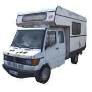 CLASSIC RUSTY CARAVAN 3d model