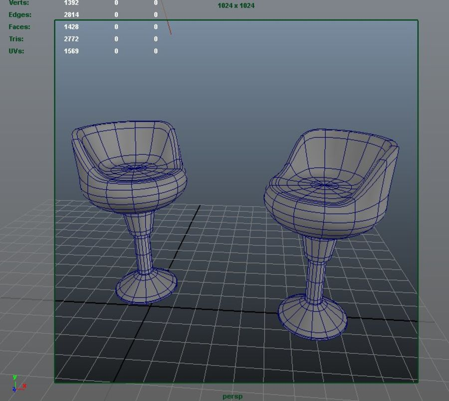 modern chair royalty-free 3d model - Preview no. 6