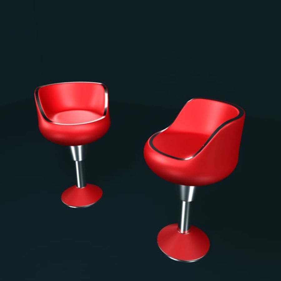 modern chair royalty-free 3d model - Preview no. 4