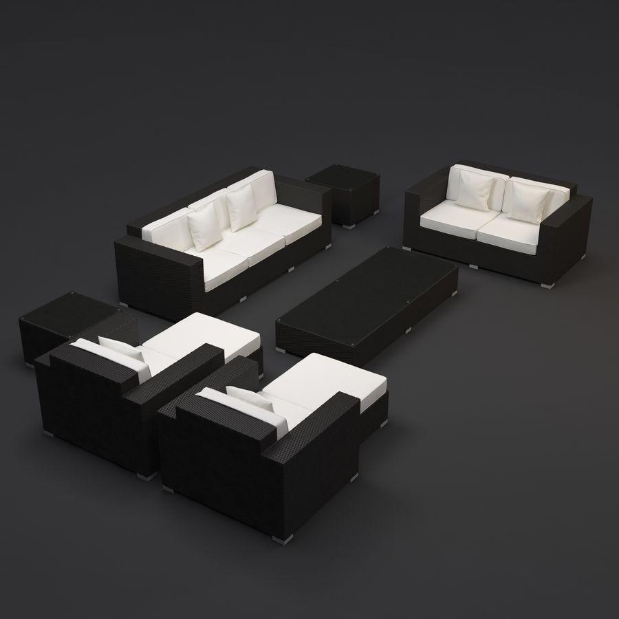 Garden furniture - Synthetic rattan sofa, loveseat, armchair ...