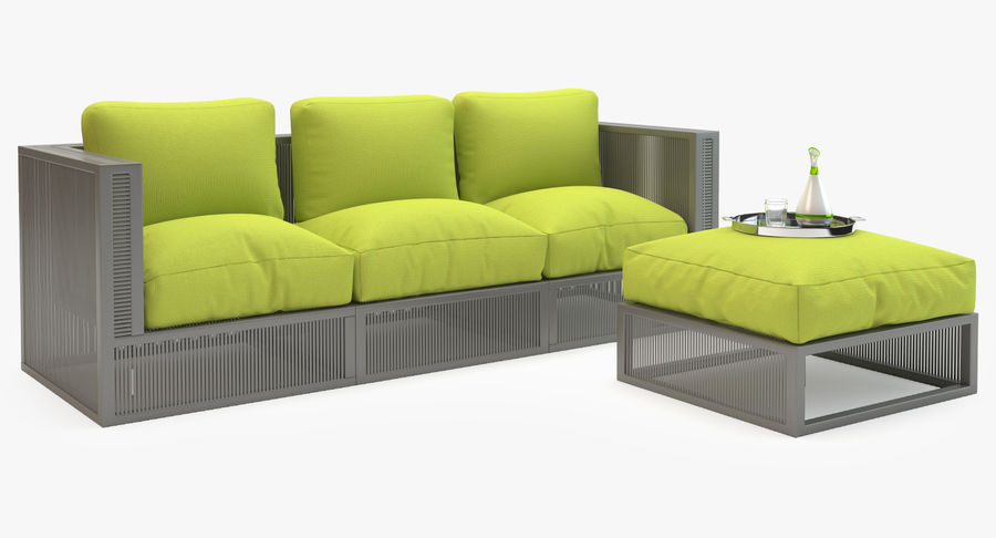 Stupendous Mudo Corsica Garden Set 3D Model 19 Obj Fbx 3Ds Max Inzonedesignstudio Interior Chair Design Inzonedesignstudiocom