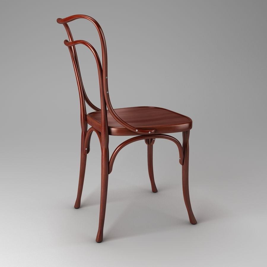 Wooden Chair 3d Model 24 Obj Fbx Blend Free3d # Adolf Loos Muebles