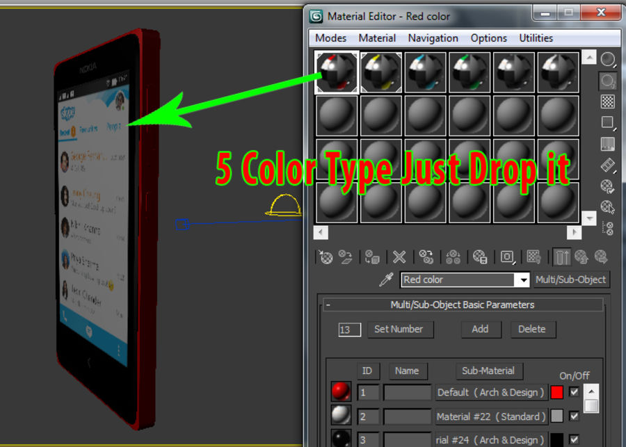 Nokia X royalty-free 3d model - Preview no. 17