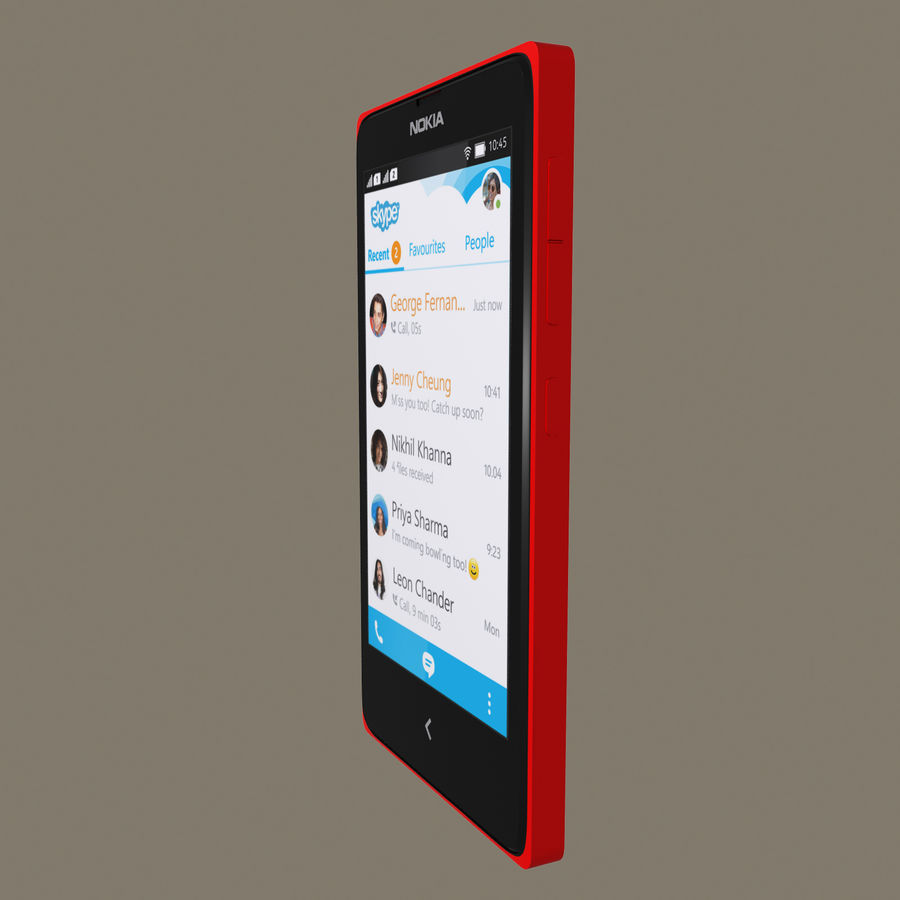 Nokia X royalty-free 3d model - Preview no. 19