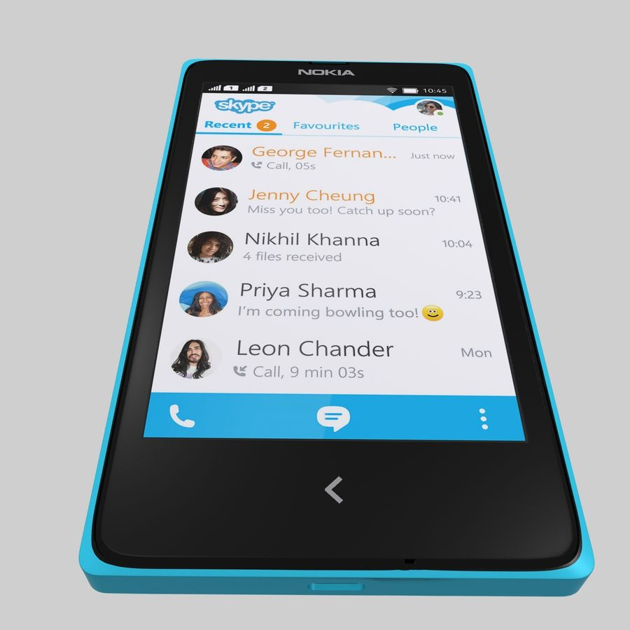 Nokia X royalty-free 3d model - Preview no. 21