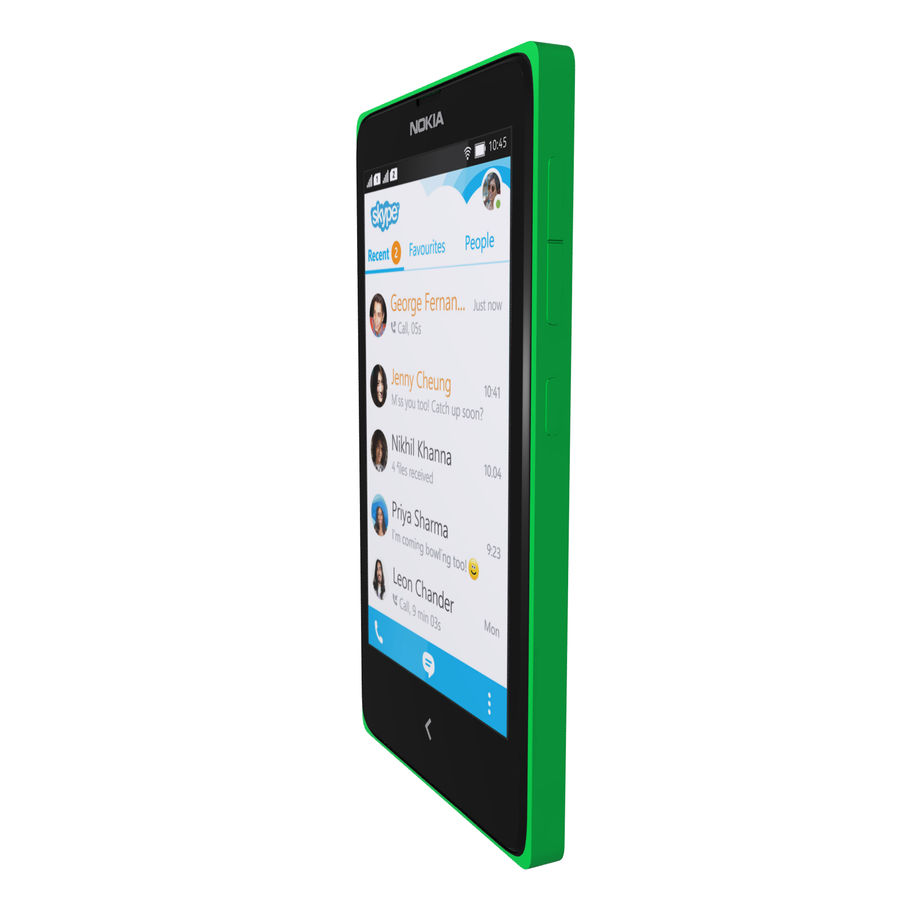 Nokia X royalty-free 3d model - Preview no. 23