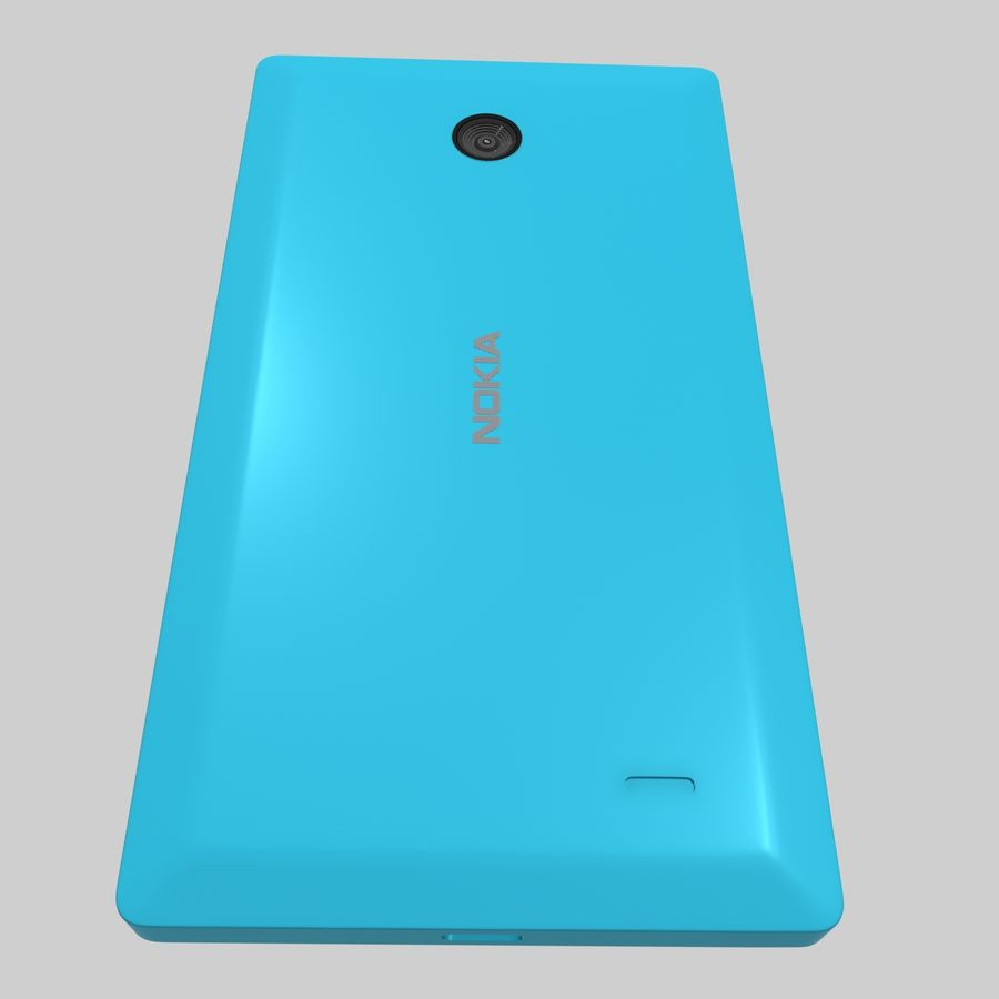 Nokia X royalty-free 3d model - Preview no. 25