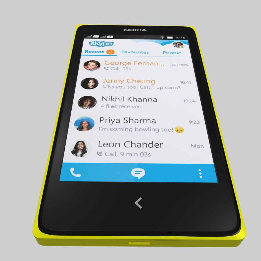 Nokia X royalty-free 3d model - Preview no. 16