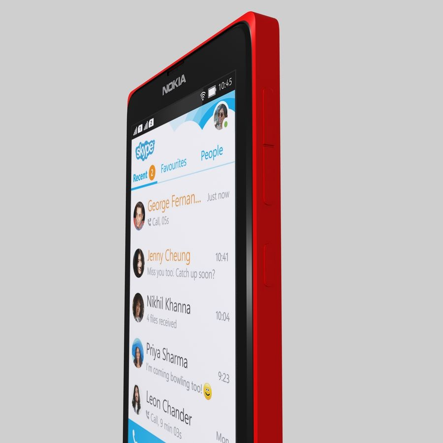 Nokia X royalty-free 3d model - Preview no. 13
