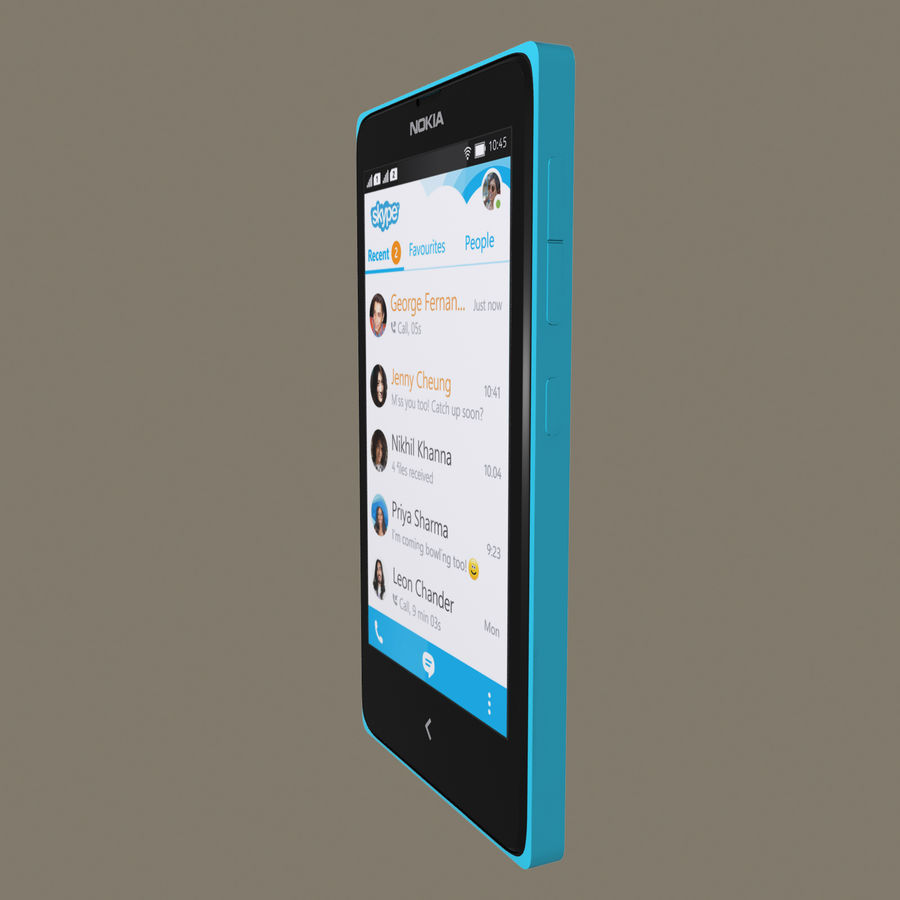 Nokia X royalty-free 3d model - Preview no. 18