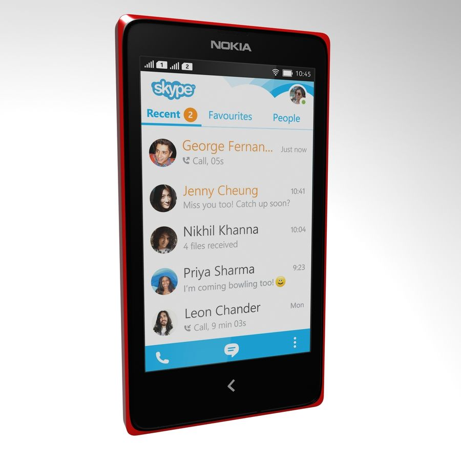 Nokia X royalty-free 3d model - Preview no. 9