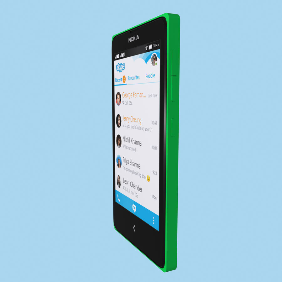 Nokia X royalty-free 3d model - Preview no. 20