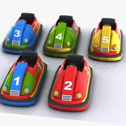 Cartoon Bumper Cars 3d model