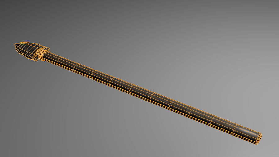 Stone Spear royalty-free 3d model - Preview no. 5
