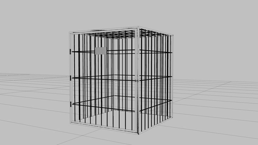 Cage royalty-free 3d model - Preview no. 2