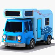 Cartoon Caravan 2 3d model