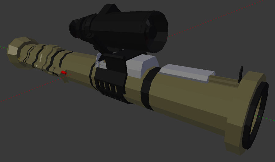 Rocket Launcher (Low Poly) royalty-free 3d model - Preview no. 1